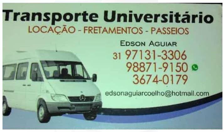 Edson Aluguel de Vans - EM Sabará